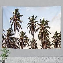 zhuifengshaonian Árbol de Coco Tapiz Creativo Tapiz de Pared Decoración de la habitación Sábana de Picnic Mantel (P-4494) 240x260cm