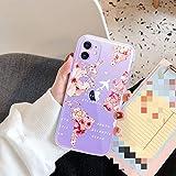 AAA&LIU Coque de téléphone Love Heart Map pour iPhone 11 Pro XS Max XR X 8 7 6 Plus 5 5s Se Flower...