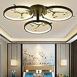 Lámpara de techo LED Lámpara de techo moderna forma flor sala estar Iluminación Regulable Cerámica Acrílico Luz techo Iluminación interior Comedor Dormitorio Cocina Pasillo Hotel colgante,3 heads