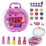 Colmanda Juguetes de Maquillaje Niños, 18 Piezas Kit de Maquillaje para Niñas Juego de Juguetes de Maquillaje, Cosméticos Belleza Juguetes Juego de Maquillaje Lavable para Niños