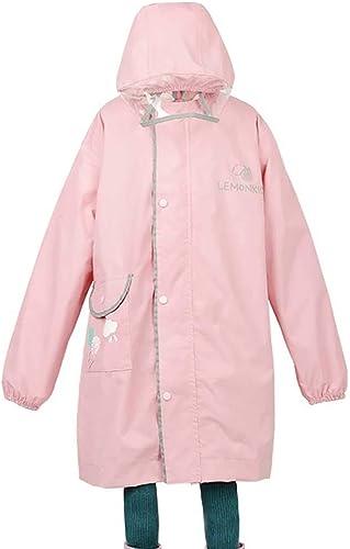 LZY imperméable- Sac pour Homme épaississant avec imperméable pour Enfants avec siège et Manteau de Poncho pour Enfants (Couleur   Rose, Taille   L)