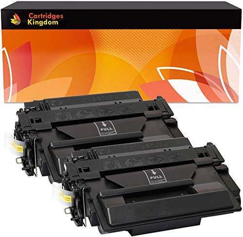 Cartridges Kingdom Pack de 2 Cartuchos de tóner láser compatibles con HP CE255X 55X para HP Laserjet P3010 P3011 P3015 P3015d P3015dn P3015n P3015x Enterprise 500 MFP M525dn M525f Canon LBP6750dn