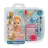 Cicciobello Amicicci, Bébé avec Set Repas et Accessoires, Modèle Cheveux Roux, Jouet pour Enfants dès 3 Ans, CC0011, CC001100