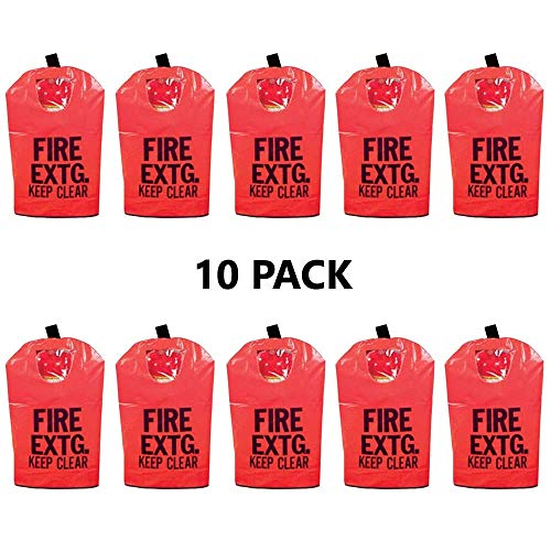 (10 Pack) 20 Lb FIRE EXTINGUISHER COVER (With Window) For 10 Lb to 20 Lb Fire Extinguishers, Medium 25