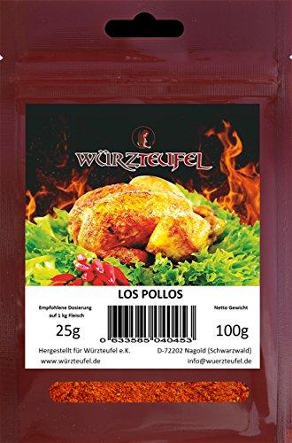 Los Pollos Mexicanos - würziges, typisch mexikanisches Grill - Gewürz für zartes Hähnchenfleisch. Beutel 100g.