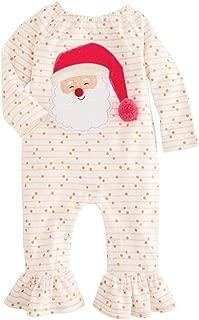 Mud Pie Kids Baby Girls Santa Glitter All The Way Christmas 1 Pc Set