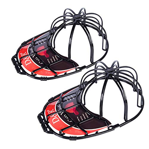 Der Rose 2 Pack Baseball Hat Washer for Washing Machine,Cap Washer Frame Cage,Hat Cleaner Protector Hat Rack for Baseball Caps