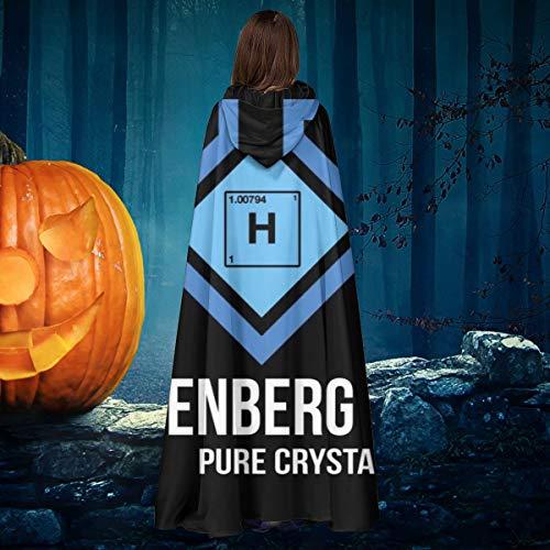 NULLYTG Breaking Bad Heisenberg Lab Pure Crystal Meth Unisex Navidad Halloween Bruja Caballero con Capucha Bata de Vampiro Capa de Capa Cosplay Disfraz