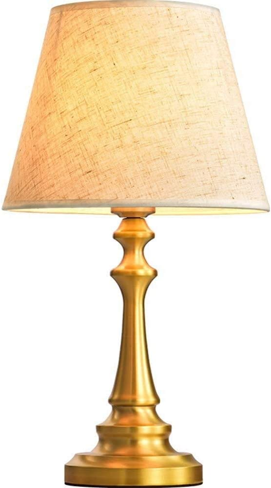 Modern Fabric Table Lamp Manufacturer regenerated product Atmospher American-Style Copper Simple Super sale period limited