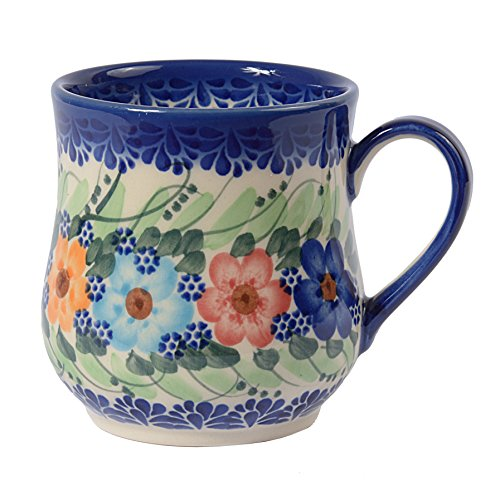Cerámica Tradicional polaca, Taza de cerámica Artesanal (350ml), Q.102 (Garland Collection)