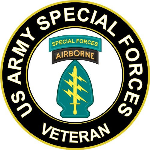 Military Vet Shop U.S. Army Veteran Special Forces Airborne Window Bumper Sticker Decal 3.8'