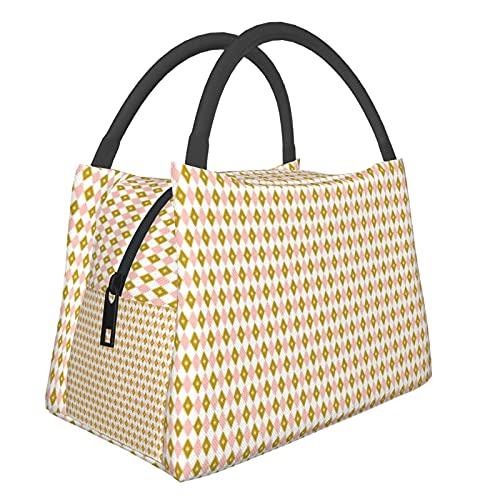 Bärbar isolerad väska Fremont Night M_i_dcentury moderna diamanter barkcloth barkduk vintage Las Vegas ATO_mic H shoppingväskor för matvaror, mat, vikbar, tvättbar, multifunktionell
