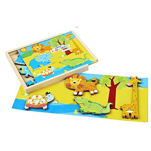 COFFRET PUZZLE ANIMAUX (COFFRET EN BOIS) 28 x 25 x 3.5 cm