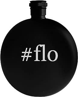 #flo - 5oz Hashtag Round Alcohol Drinking Flask, Black