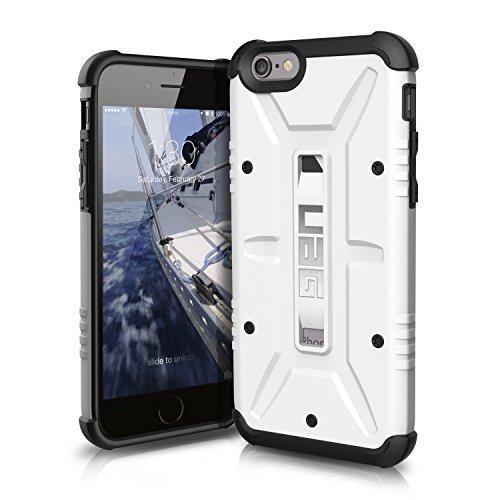 Urban Armor Gear Schutzhülle nach US-Militärstandard für Apple iPhone 6/6S - weiß [Verstärkte Ecken | Sturzfest | Antistatisch Vergrößerte Tasten] - UAG-IPH6/6S-WHT-VP