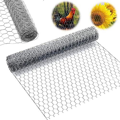 Chicken Wire Netting, 13.7 '' X 157 '' Chicken Coop Wire Net for Craft Work, 1'' Hexagonal Opening Galvanized Mesh Poultry Fence for Rabbit, Chicken Pet Animal Barrier, Garden Vegetable Plants (13ft)