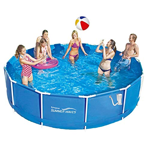Summer Waves Frame Pool 366x91cm Rahmen Swimmingpool + Leiter + Pumpe + Bodenplane + Abdeckung