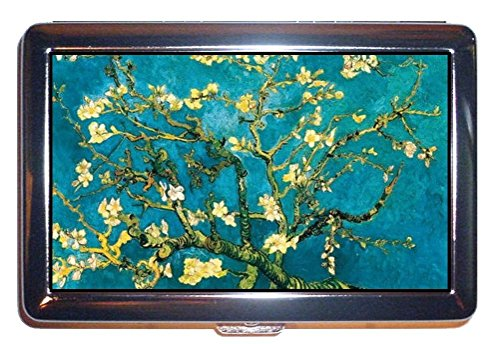 Vincent Van Gogh Almond Blossom Art Stainless Steel ID or Cigarettes Case (King Size or 100mm)