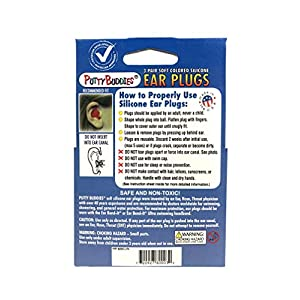 Putty Buddies Original Swimming Earplugs - The Best Swimming Ear Plugs - Block Water - Super Soft - Comfortable - Great for Kids - 3-Pair Pack