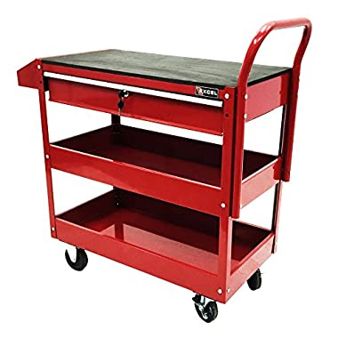 Excel TC301C-Red 36-Inch Steel Tool Cart, Red