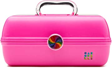 Caboodles Rainbow Rad - On-The-Go Girl Makeup Organizer, Bright Fuchsia
