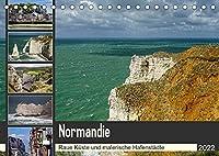 Normandie - Raue Kueste und malerische Hafenstaedte (Tischkalender 2022 DIN A5 quer): Fotoreise entlang der normannischen Kueste (Monatskalender, 14 Seiten )