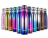 willceal Botella de Agua de Doble Pared de Acero Inoxidable con Aislamiento al vacío, 500 ml, a...