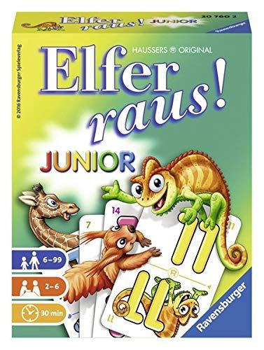 Junior Elfer Raus Kartenspiel für Kinder ab 6 Jahren