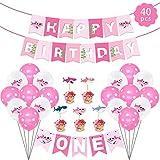 Feliz cumpleaños decoraciones, Kits de suministros para fiestas de tiburones con pancarta...