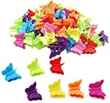 DEEINN 50 Butterfly Hair Clips Claw Barrettes, Assorted Color Mini Jaw Clip Hairpin Accessories For Women And Girls Pcs Clips, Cute Clamps Hairpins Women, Girls, Kids, Baby, Random (Colorful-2)