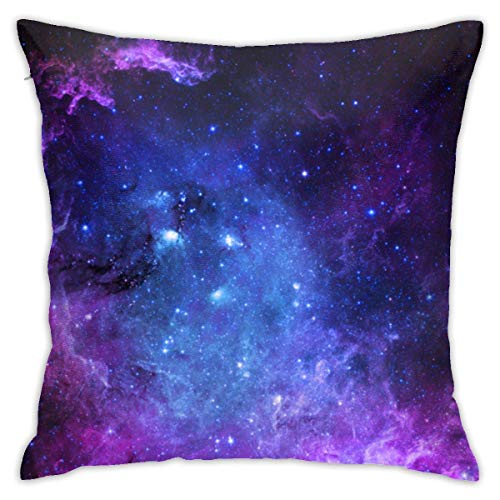 Hdadwy Pillowcase Blue Purple Galaxy 18'x18' Standard Pillowcase Cushion Cover Machine Washable