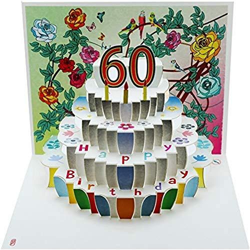 Forever Cards, Carte d'anniversaire pop-up 60 ans - Découpe au laser - POP160