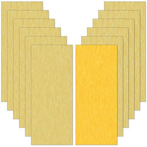 36pcs Nassschleifpapier Körnung 3000 2500 2000 1500 1200 1000 800 600 400 320 220 120 Nass und Trocken Sandpapier für Auto Holzmöbel Stein Lack Metall Glas 12 Körnung 3pcs pro Blatt