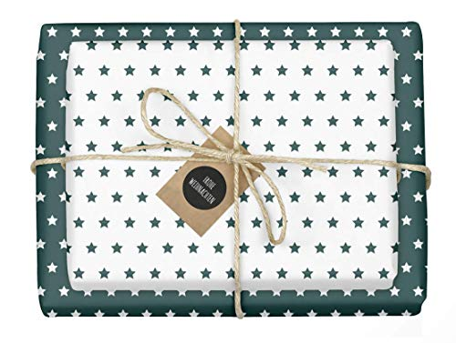 dabelino® 4x zweifarbiges Geschenkpapier