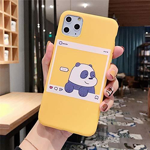 ZYMQ Dibujos Animados Lindo Oso Divertido Panda PANTEL Modelo Funda para teléfono para iPhone 11 Pro MAX X XS MAX XR 6 6S 7 8 Plus SE 2020 Retro,A,iPhone 12 Mini