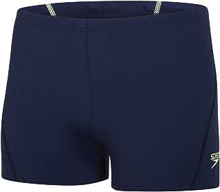 Men Race Endurance+ Polyester Solid Square Leg Swimsuit