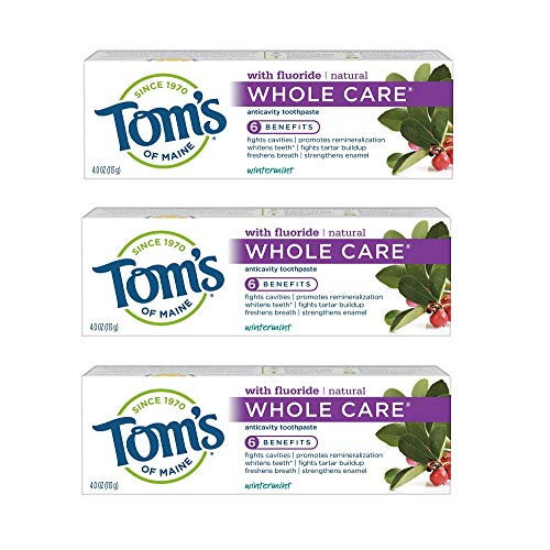 Tom's of Maine Whole Care Natural Toothpaste with Fluoride, Wintermint, 4 oz. 3-Pack