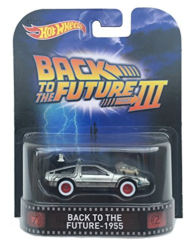 "Back To The Future 1955 Time Machine ""Back To The Future Part Iii\"" Hot Wheels 2015 Retro Series 1/64 Die Cast Vehicle"
