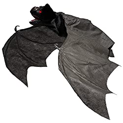 Cool halloween props time for the holidays for Animated flying bat decoration