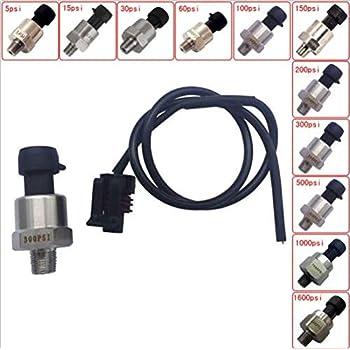 Trasduttore di pressione Psi 1 8NPT Filetto Sensore di trasduttore di pressione in acciaio inossidabile per olio combustibile Aria acqua 30 PSI