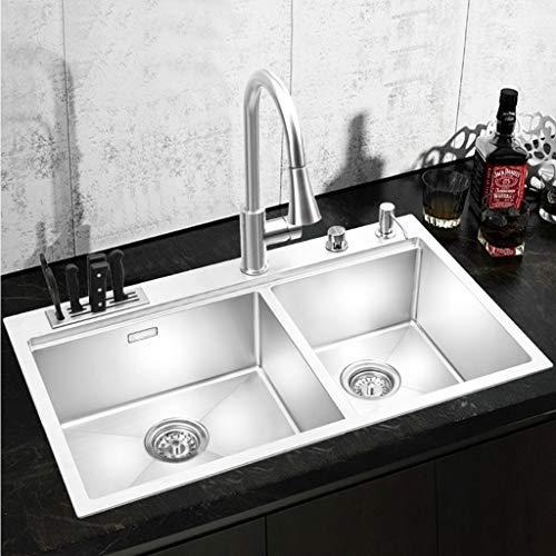 Cuarto de baño Fregadero de cocina 304 Tainless Fregadero de acero Lavabo...