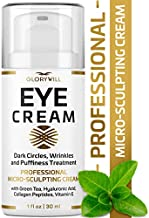 Professional Eye Cream - Anti-Aging & Wrinkle Cream for Women & Men - Made in USA - Reduces Dark Circles, Under-Eye Bags & Puffiness - Eye Care with Hyaluronic Acid & Vitamin E (1 FL OZ)