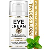Professional Eye Cream - Anti-Aging & Wrinkle Cream for Women & Men - Made in USA - Reduces Dark Circles, Under-Eye Bags & Puffiness - Eye Care with Hyaluronic Acid & Vitamin E