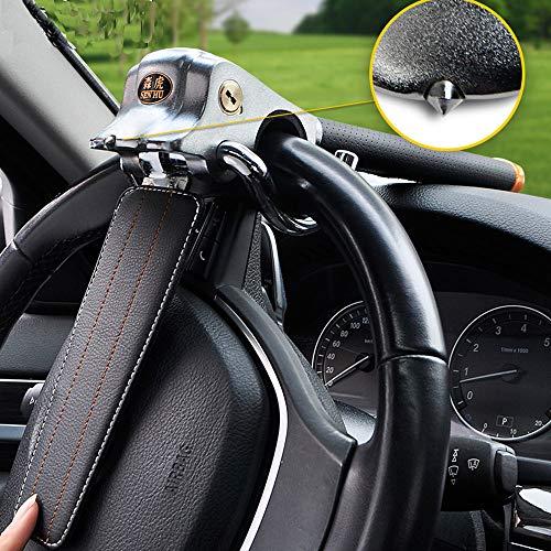 XJ Antivol Dispositif de Blocage Airbag,Serrure de Voiture, Serrure de Volant de Voiture sécurité Universelle antivol Utilitaire Lourd SUV Serrure de Volant Rotatif Outil à Main à autodéfense pour