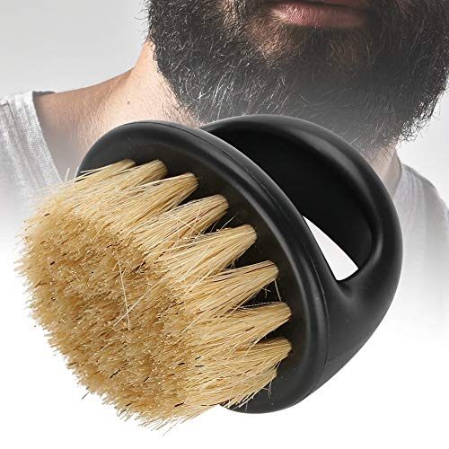 Brosse Mustache - Barbe, brosse Beard Toilettage Styling Barbe outil de soins (2 couleurs) (Couleur : Black Handle+White Hair)