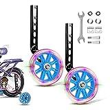 JEEZAO Ruedines Bicicleta Infantil, Bicicleta Estabilizador Ruedas,Niños Entrenamiento Ruedines Accesorio de Bicicleta Universal (Destello Azul)