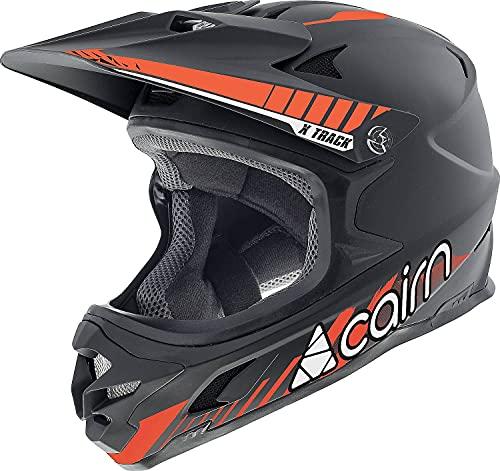 Cairn X Track Pro Casco, Unisex-Adult, 03 Mat Black Fire, XL (60/62)
