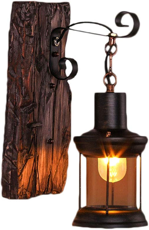Obtén lo ultimo SYS-KCD Retro lámpara de Parojo Industrial Loft Loft Loft de Madera Retro Restaurante, Dormitorio cabecera de la Parojo lámpara de Cristal Pantalla E27, sin Fuente de luz  marcas en línea venta barata