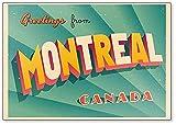 Vintage Touristic Greeting Illustration – Montreal Kanada