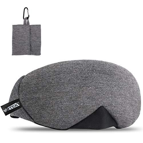 WOTEK schlafmaske, 100% Reine Baumwolle Einstellbare schlafbrille mit innovativ...